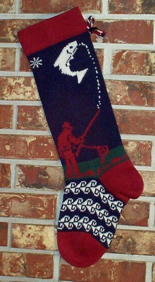 Fisherman Knit Christmas Stocking