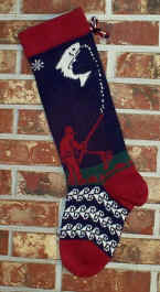 Fisherman Christmas Stocking