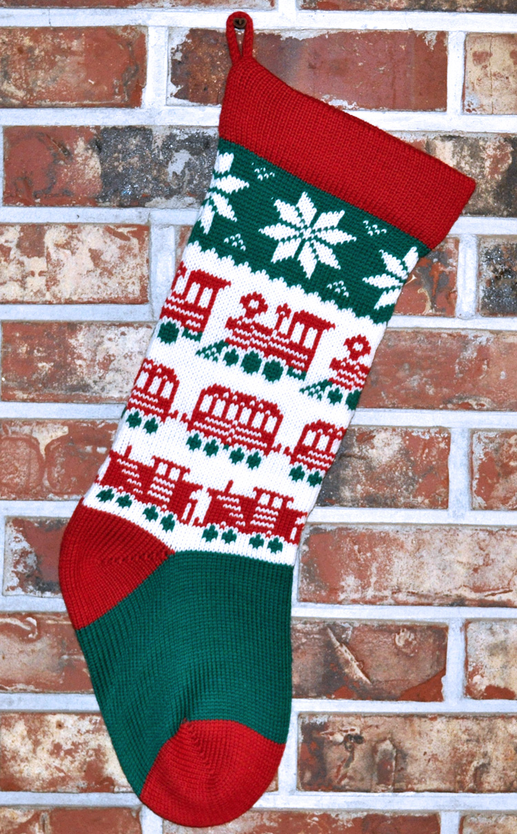 ... Trains Christmas Stocking, Style 2