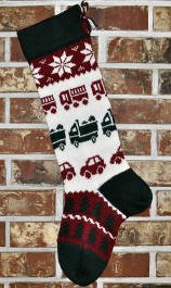 Trucks & Cars Christmas Stocking