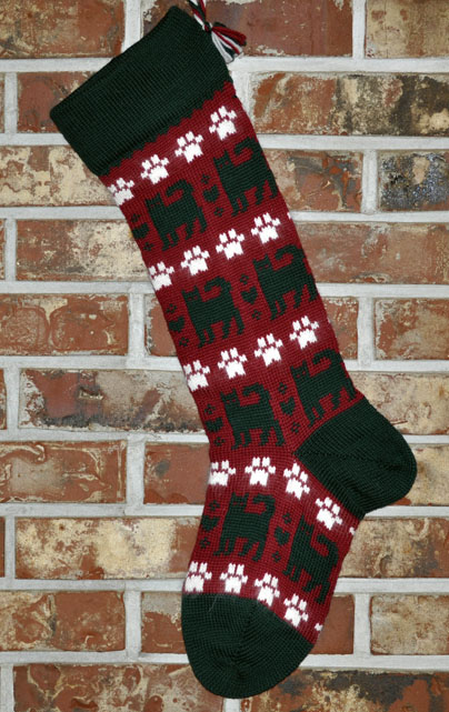 Cats Knit Christmas Stocking