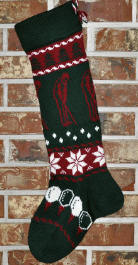 Golfer Christmas Stocking