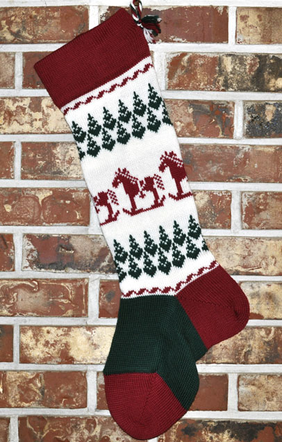 Rocking Horse Christmas Stocking