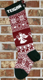 Angels & Reindeer Stocking