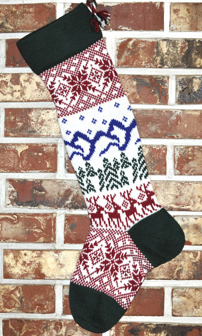 scandinavian knit christmas stocking