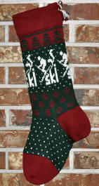 Skier Christmas Stocking