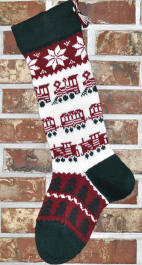 Train Christmas Stocking