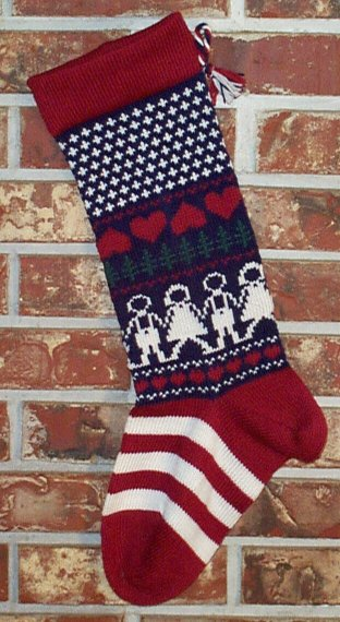 U.S. Knit Christmas Stocking